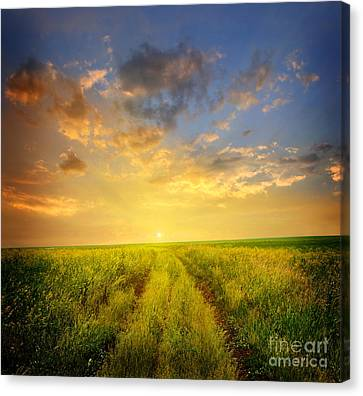 Beautiful Sunsets Photos Canvas Print by Boon Mee