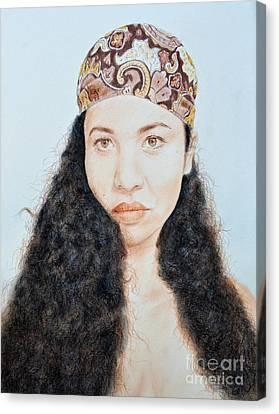 Beautiful Thai  Artist And Model Dao Canvas Print