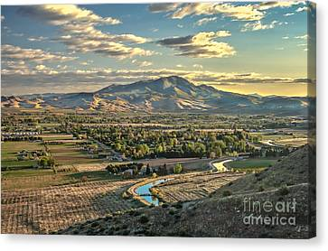 Beautiful Valley Canvas Print by Robert Bales