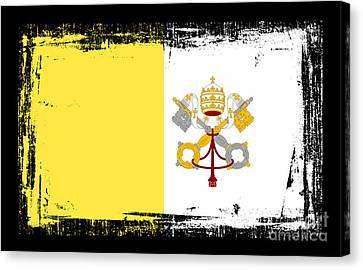 Beautiful Vatican City Flag Canvas Print