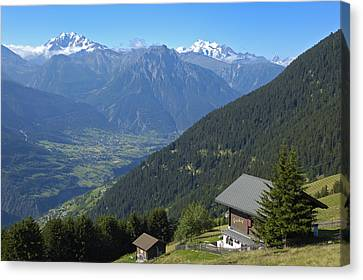 Beautiful View From Riederalp - Swiss Alps Canvas Print by Matthias Hauser