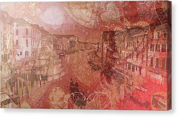 Canvas Print featuring the painting Beautiful View Of Italian Silk by Catherine Lott