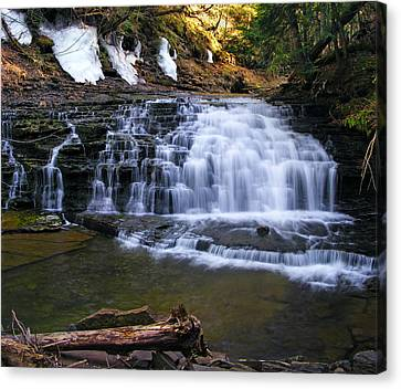 Beautiful Waterfalls Canvas Print by Sheila Savage