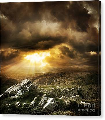 Canvas Print featuring the photograph beautiful Wilderness Rugged nature landscape by Boon Mee