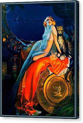 Beauty And The Beast Pin Up Canvas Print by Rolf Armstrong