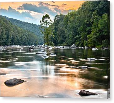Canvas Print featuring the photograph Beauty At Low Tide by Tom Cameron