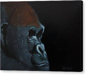 Beauty Behind The Mask Canvas Print by Jean Yves Crispo
