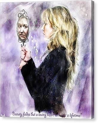 Beauty Fades Canvas Print by Hazel Billingsley
