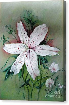 Canvas Print featuring the painting Beauty For Ashes by Hazel Holland