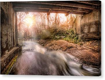 Beauty From Under The Old Bridge Canvas Print