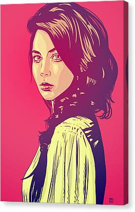 Pop Canvas Print - Beauty by Giuseppe Cristiano