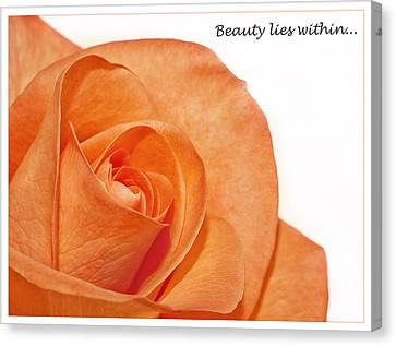 Canvas Print featuring the photograph Beauty Lies Within... by Kim Andelkovic