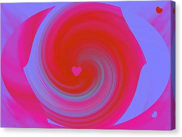 Canvas Print featuring the digital art Beauty Marks by Catherine Lott