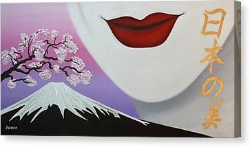 Beauty Of Japan Canvas Print by Wahine Art