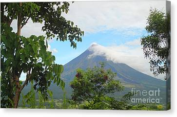 Beauty Of Mayon Canvas Print by Manuel Cadag