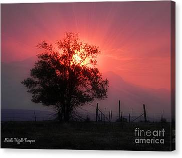 Beauty Of Sunset Canvas Print by Michelle Frizzell-Thompson