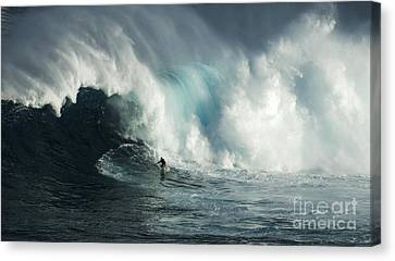 Beauty Of Surfing Jaws Maui 7 Canvas Print by Bob Christopher