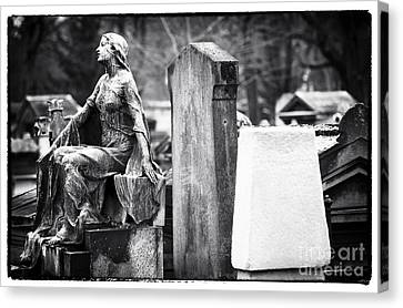 Beauty Of The Cemetery Canvas Print by John Rizzuto