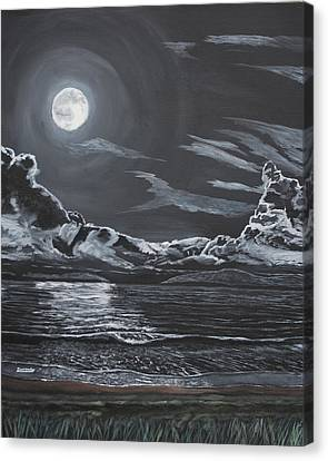 Canvas Print featuring the painting Beauty Of The Night by Ian Donley