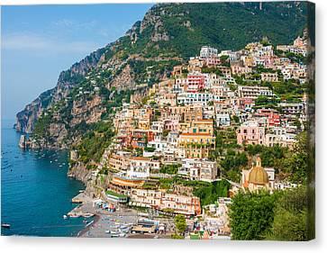 Beauty Of The Positano Canvas Print