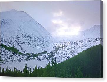 Beauty Of The Rockies Canvas Print by Kellice Swaggerty
