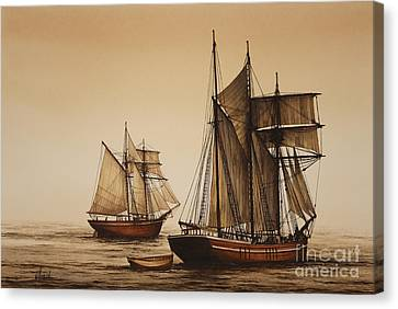 Beauty Of Wooden Ships Canvas Print by James Williamson