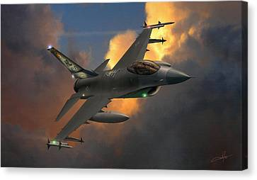 Fighter Canvas Print - Beauty Pass by Dale Jackson