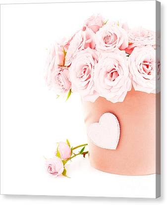 Beauty Pink Roses Canvas Print by Boon Mee