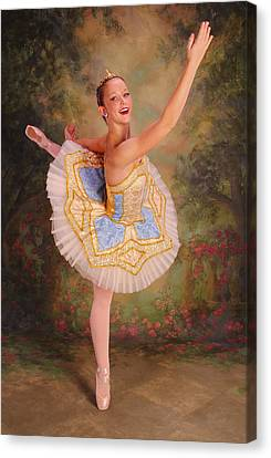 Beauty The Ballerina Canvas Print by ARTography by Pamela Smale Williams