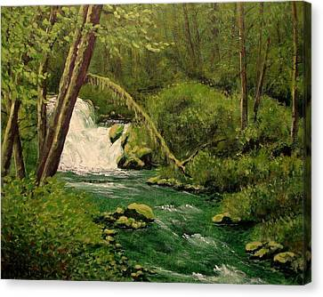 Canvas Print featuring the mixed media Beaver Creek Falls by Kenny Henson