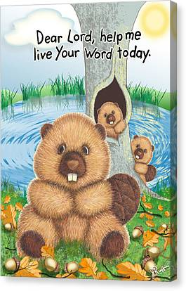 Beaver Canvas Print by Jerry Ruffin