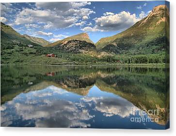 Beaver Lake In Marble Colorado Canvas Print by Adam Jewell