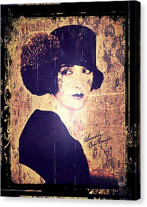 Bebe Daniels - 1920s Actress Canvas Print by Absinthe Art By Michelle LeAnn Scott