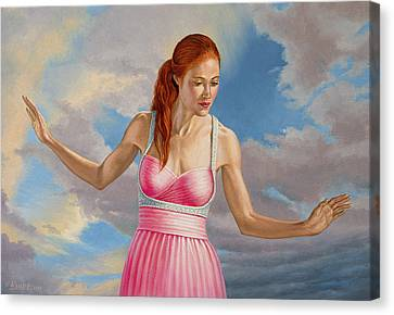 Becca In Pink Canvas Print by Paul Krapf