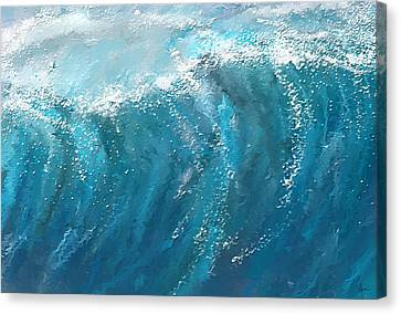 Surfing Art Canvas Print - Beckoning Heights- Surfing Art by Lourry Legarde