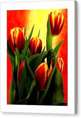 Becky Tulips Art2 Jgibney The Museum Gifts Canvas Print by The MUSEUM Artist Series jGibney