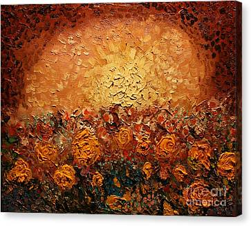Bed Of Flowers Canvas Print by Michael Kulick