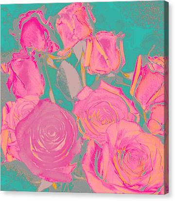 Bed Of Roses I Canvas Print by Shirley Moravec