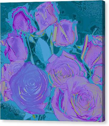 Bed Of Roses II Canvas Print by Shirley Moravec