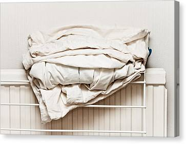 Bed Sheets Canvas Print by Tom Gowanlock