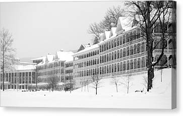 Bedford Springs Northern Colonnades  Canvas Print by Mary Beth Landis