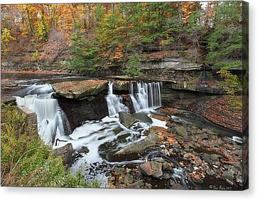 Canvas Print featuring the photograph Bedford Viaduct Waterfall by Daniel Behm