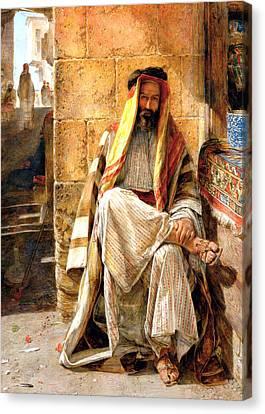 Bedouin Man Canvas Print by Munir Alawi