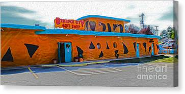 Bedrock City - Gift Shop Canvas Print by Gregory Dyer