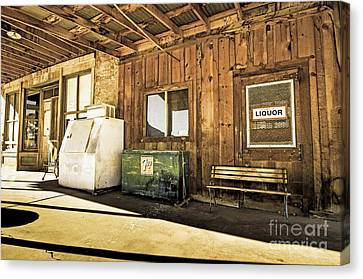 Bedrock Porch - Aged Canvas Print by Bob and Nancy Kendrick