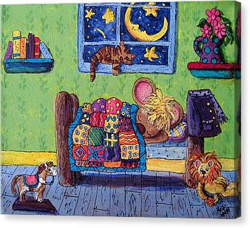 Bedtime Mouse Canvas Print by Megan Walsh
