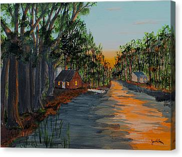 Bedtime Shadows Canvas Print by Jack G  Brauer