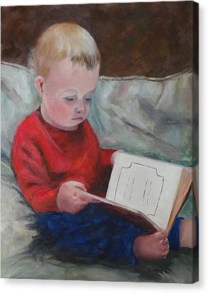 Bedtime Story Canvas Print by Carol Berning