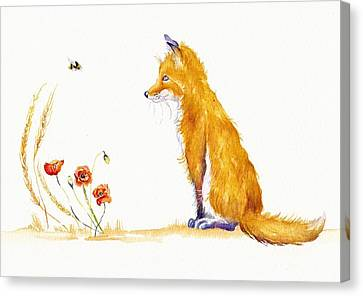 Bee A Summer Fox Canvas Print