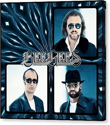 Bee Gees I Canvas Print by Sylvia Thornton